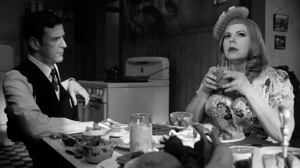 """Kirsten Vangsness (right) and Dean Lemont act in a scene from Vangsness' new film, """"Kill Me Deadly,"""" which will premiere in the Haugh Performing Arts Center on April 24. Vangsness stars on the CBS series """"Criminal Minds."""" (photo courtesy of Kill Me Deadly, LLC.)"""