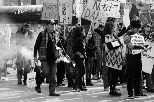 No DAPL rally and march in Los Angeles - sageing continued