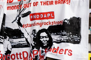 No DAPL rally and march in Los Angeles - big banks