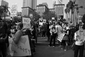No DAPL rally and march in Los Angeles - gathering