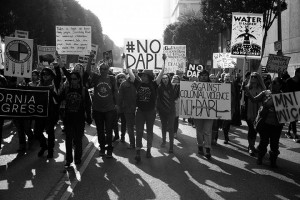 No DAPL rally and march in Los Angeles - march