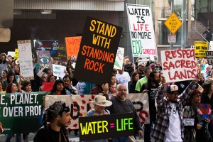 No DAPL rally and march in Los Angeles - in the underpass