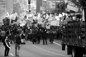 No DAPL rally and march in Los Angeles - big crowd