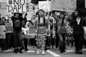 No DAPL rally and march in Los Angeles - female dancer