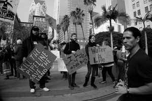 No DAPL rally and march in Los Angeles - homemade signs
