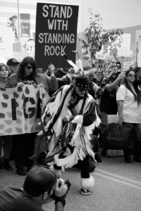 No DAPL rally and march in Los Angeles - dancer