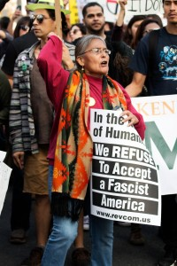 No DAPL rally and march in Los Angeles - protector