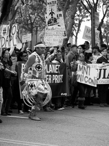 No DAPL rally and march in Los Angeles - rings dancer