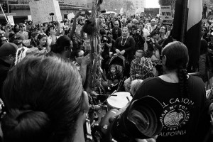 No DAPL rally and march in Los Angeles - drums and prayer