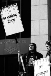 No DAPL rally and march in Los Angeles - standing rock protector