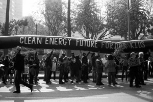 No DAPL rally and march in Los Angeles - the black snake