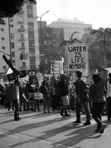 No DAPL rally and march in Los Angeles - starting to line up